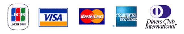 JCBカード / VISAカード / MasterCard / American Express / DinersClubCard